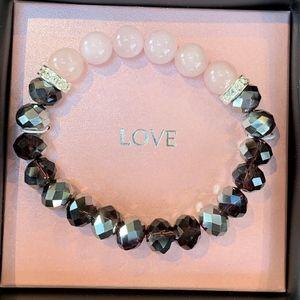 Avon I Wish you LOVE Beaded Bracelet
